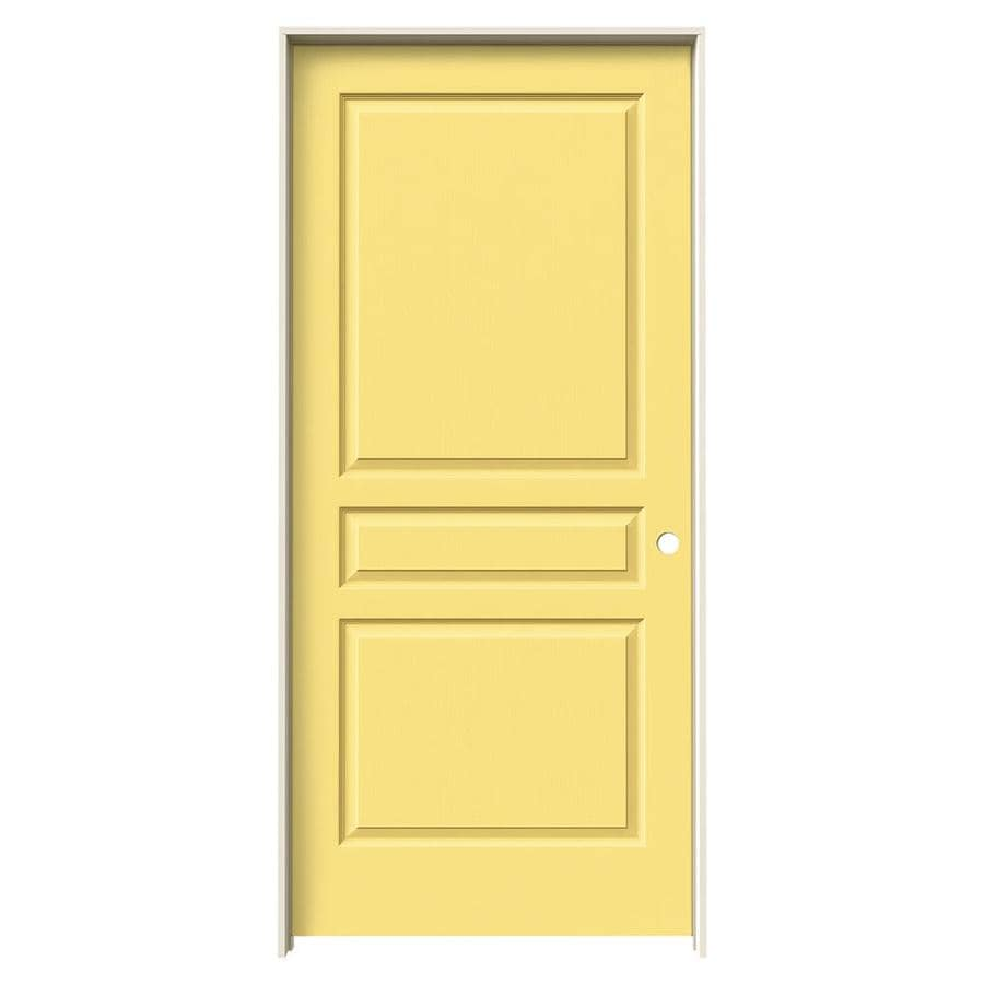 JELD-WEN Marigold Prehung Hollow Core 3-Panel Square Interior Door (Common: 36-in x 80-in; Actual: 37.562-in x 81.688-in)