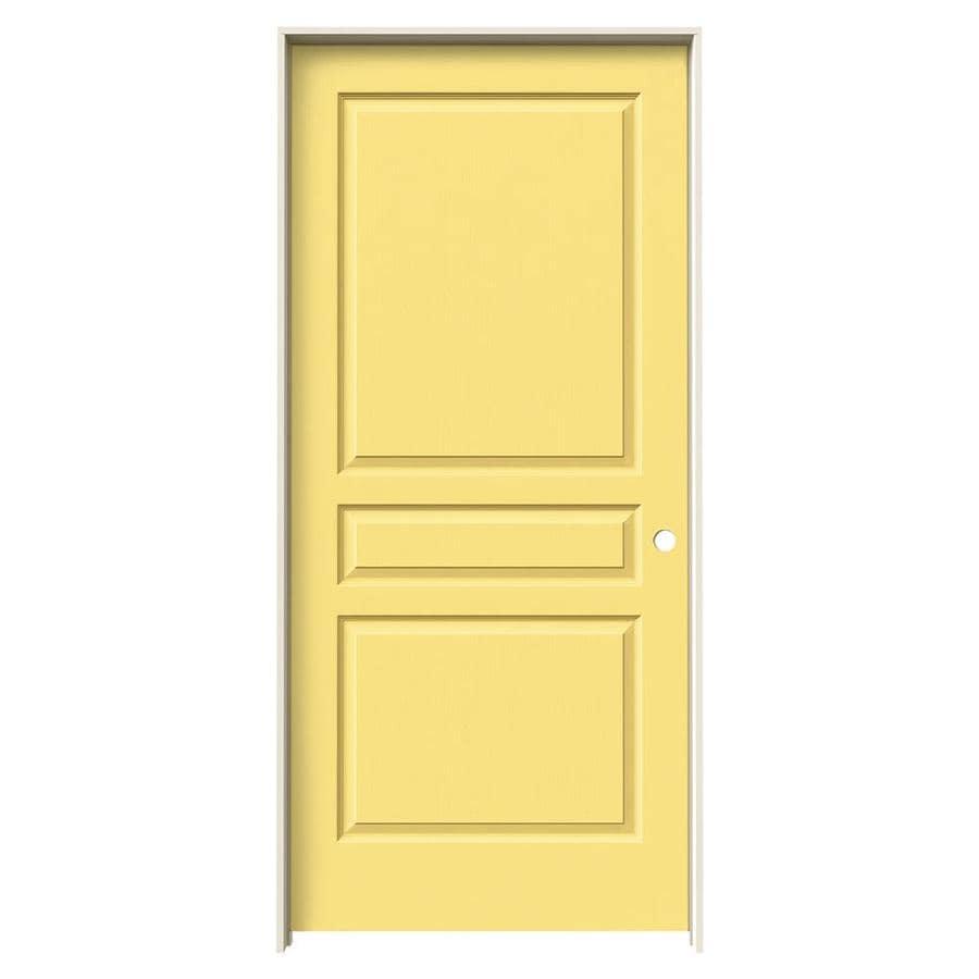 JELD-WEN Avalon Marigold 3-panel Square Single Prehung Interior Door (Common: 36-in x 80-in; Actual: 37.562-in x 81.688-in)