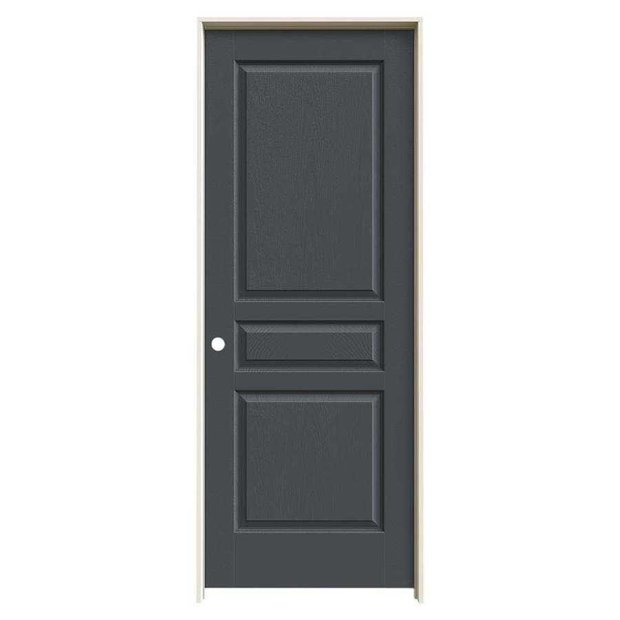 JELD-WEN Avalon Slate Hollow Core Molded Composite Single Prehung Interior Door (Common: 24-in x 80-in; Actual: 25.5620-in x 81.6880-in)