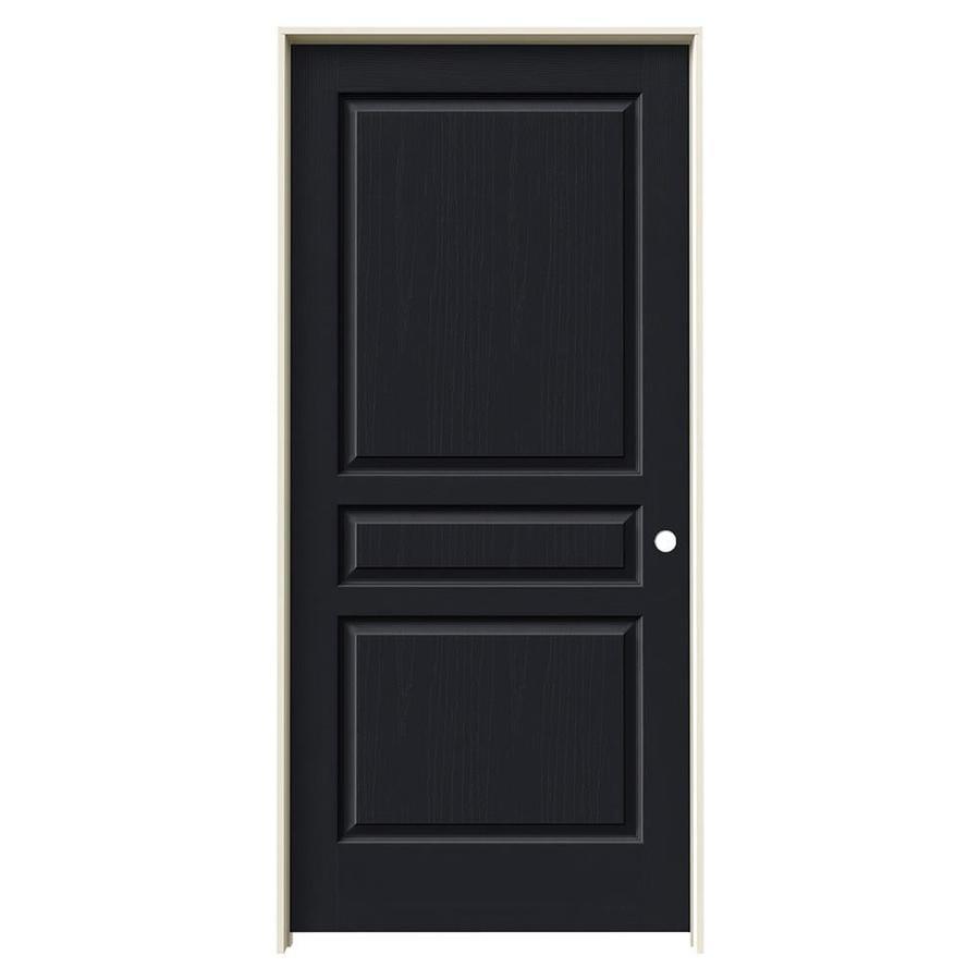 JELD-WEN Avalon Midnight Hollow Core Molded Composite Single Prehung Interior Door (Common: 36-in x 80-in; Actual: 37.562-in x 81.688-in)