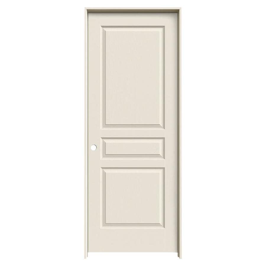 JELD-WEN Prehung Hollow Core 3-Panel Square Interior Door (Common: 30-in x 80-in; Actual: 31.562-in x 81.688-in)