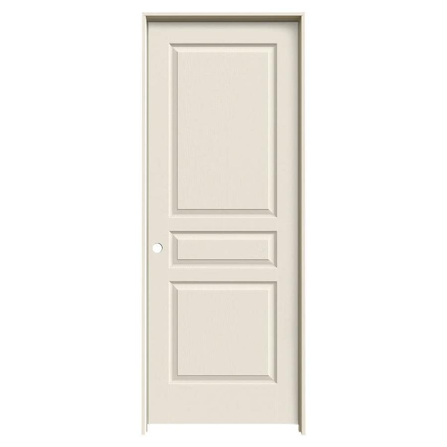 JELD-WEN Prehung Hollow Core 3-Panel Square Interior Door (Common: 32-in x 80-in; Actual: 33.562-in x 81.688-in)