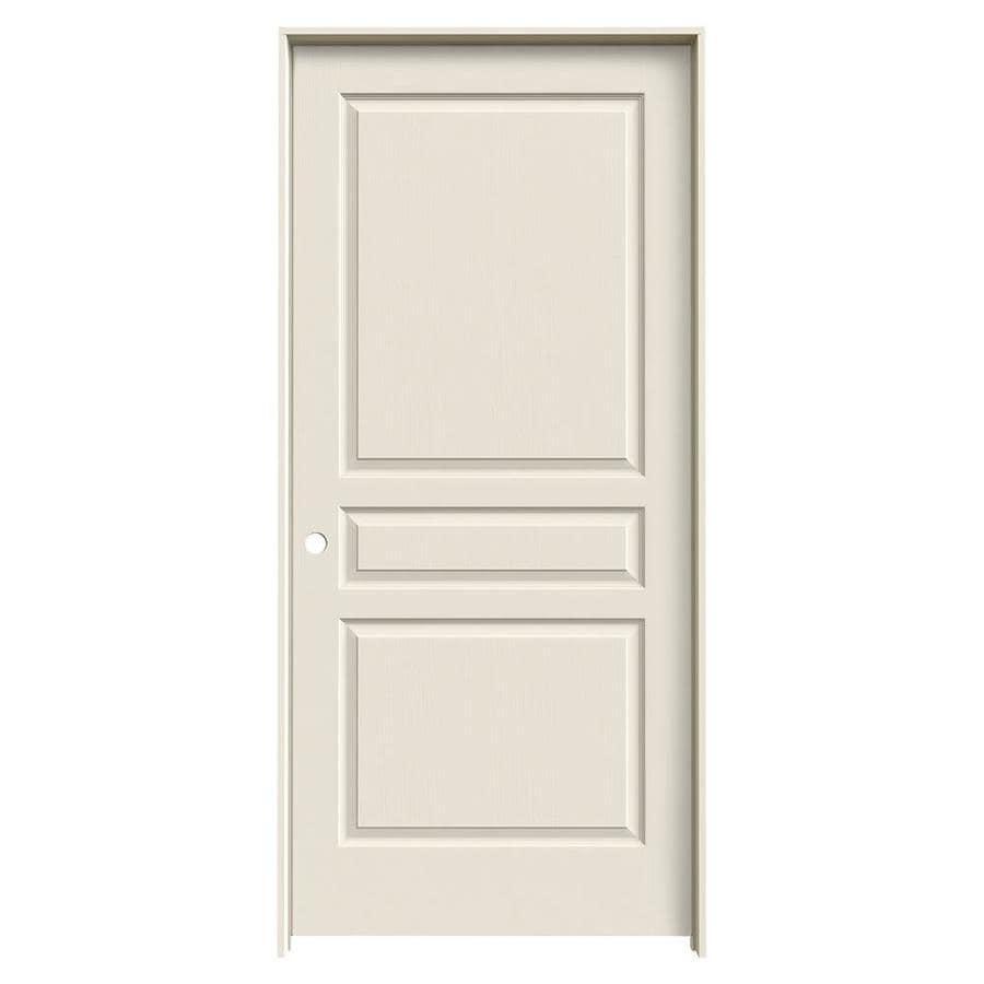 JELD-WEN Prehung Hollow Core 3-Panel Square Interior Door (Common: 36-in x 80-in; Actual: 37.562-in x 81.688-in)