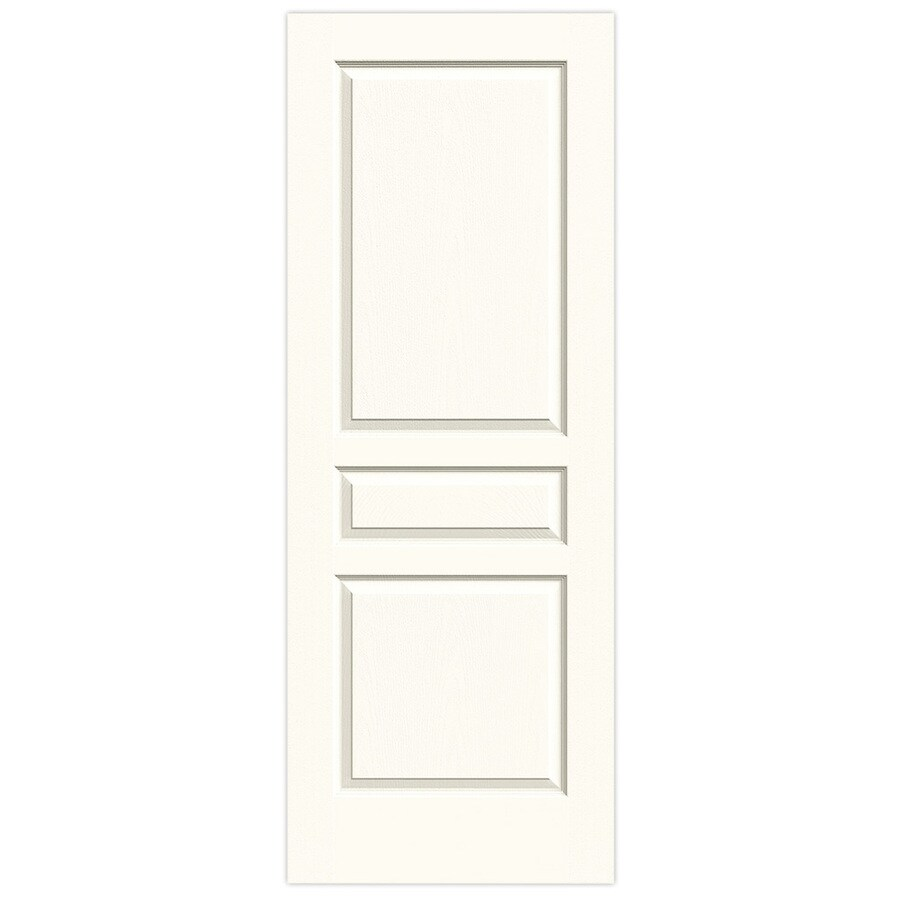 JELD-WEN White Hollow Core 3-Panel Square Slab Interior Door (Common: 32-in x 80-in; Actual: 32-in x 80-in)