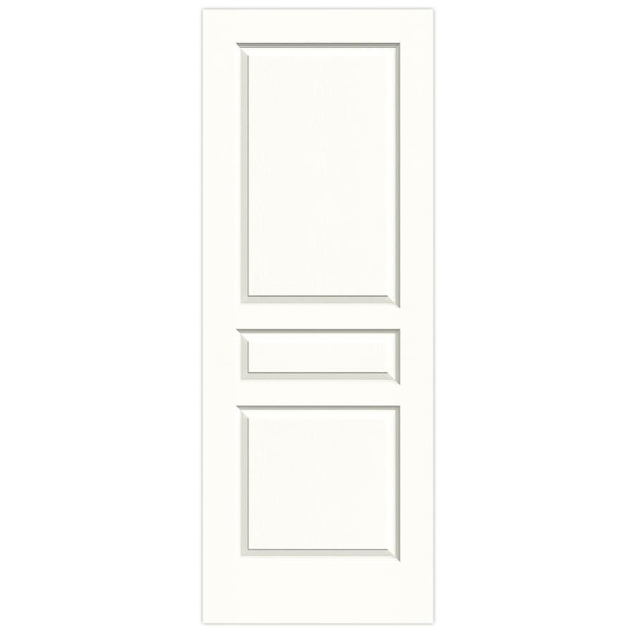 JELD-WEN Snow Storm Hollow Core 3-Panel Square Slab Interior Door (Common: 28-in x 80-in; Actual: 28-in x 80-in)