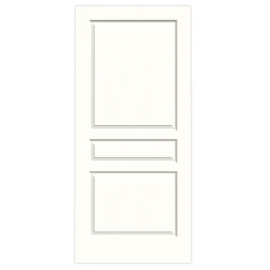 JELD-WEN Avalon Snow Storm Hollow Core 3-Panel Square Slab Interior Door (Common: 36-in x 80-in; Actual: 36-in x 80-in)