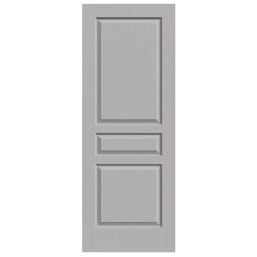 JELD-WEN Driftwood Hollow Core 3-Panel Square Slab Interior Door (Common: 32-in x 80-in; Actual: 32-in x 80-in)