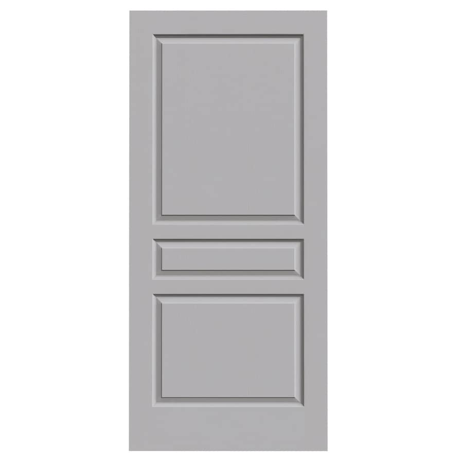 Jeld wen avalon driftwood 3 panel square hollow core - 3 panel hollow core interior doors ...
