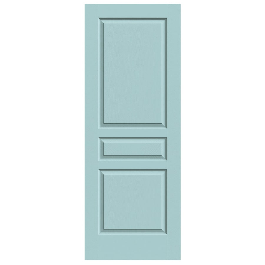 JELD-WEN Sea Mist Hollow Core 3-Panel Square Slab Interior Door (Common: 28-in x 80-in; Actual: 28-in x 80-in)