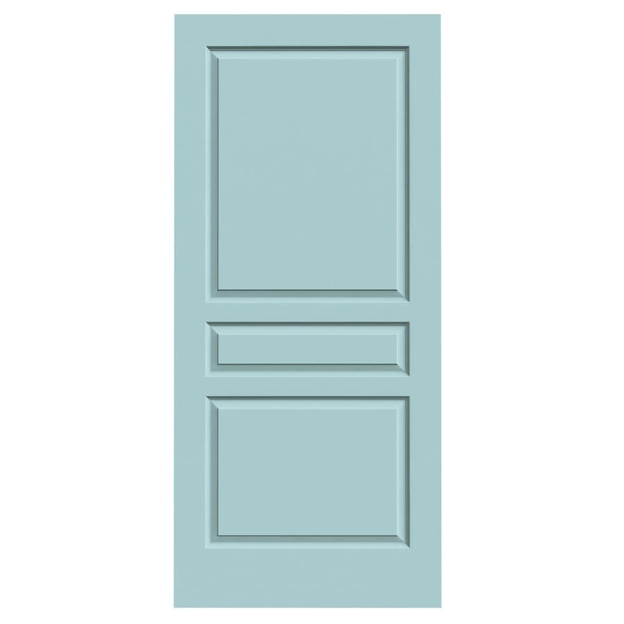 JELD-WEN Avalon Sea Mist Hollow Core 3-Panel Square Slab Interior Door (Common: 36-in x 80-in; Actual: 36-in x 80-in)
