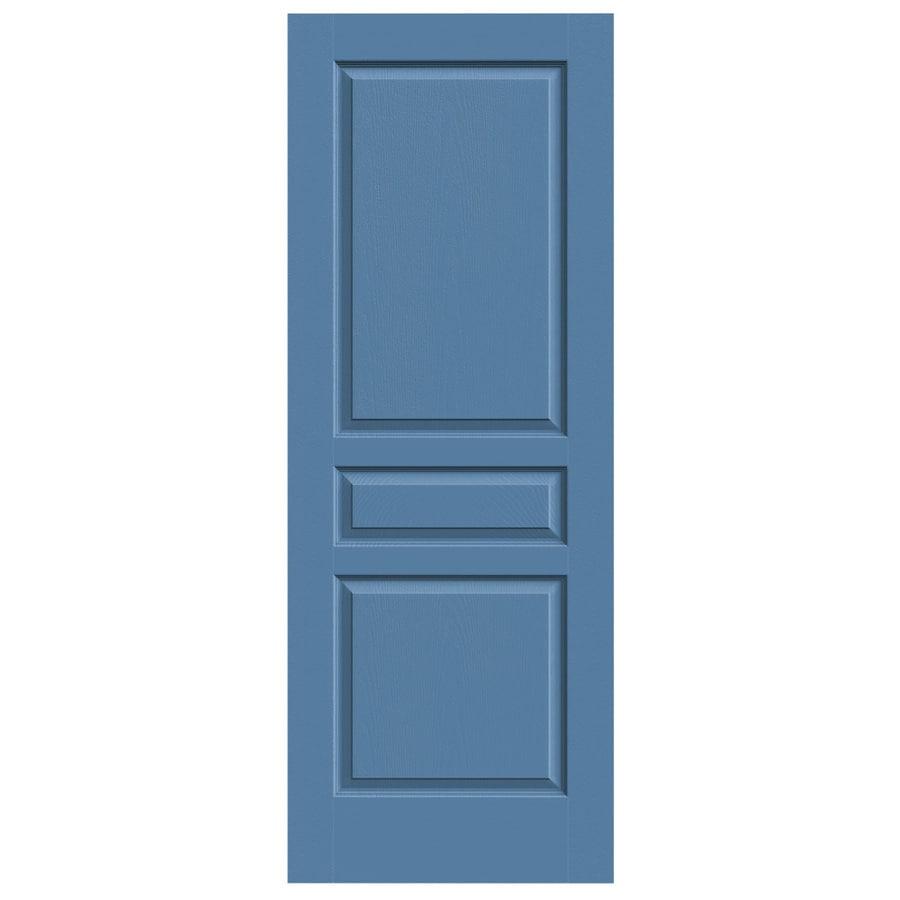 JELD-WEN Blue Heron Hollow Core 3-Panel Square Slab Interior Door (Common: 24-in x 80-in; Actual: 24-in x 80-in)