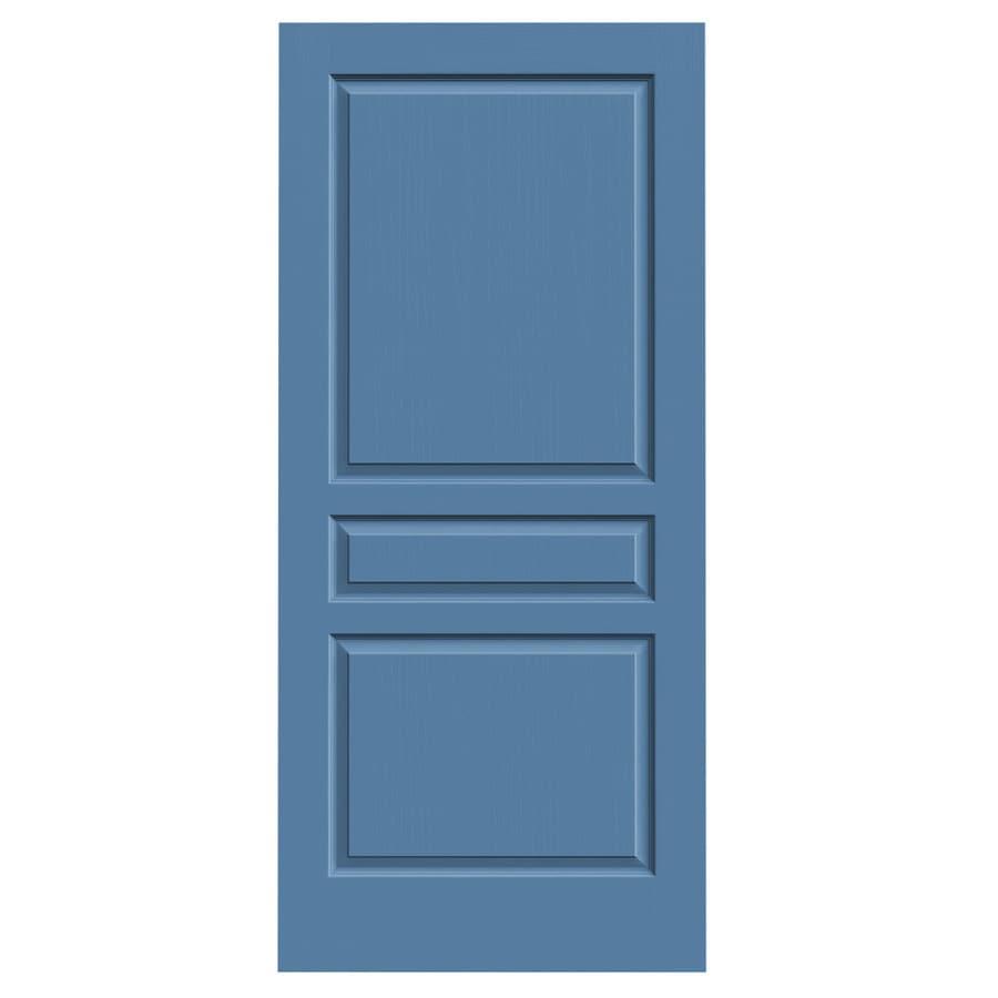 JELD-WEN Avalon Blue Heron Slab Interior Door (Common: 36-in x 80-in; Actual: 36-in x 80-in)