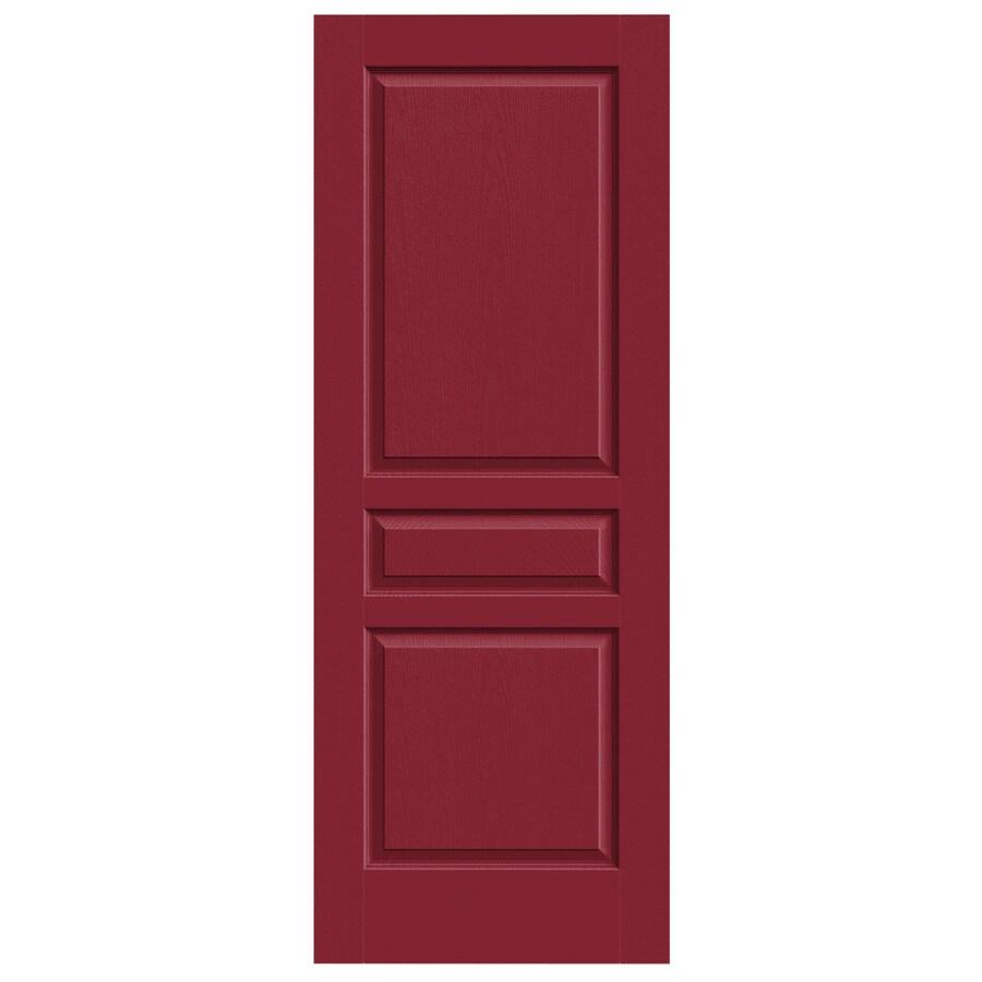 JELD-WEN Barn Red Hollow Core 3-Panel Square Slab Interior Door (Common: 30-in x 80-in; Actual: 30-in x 80-in)