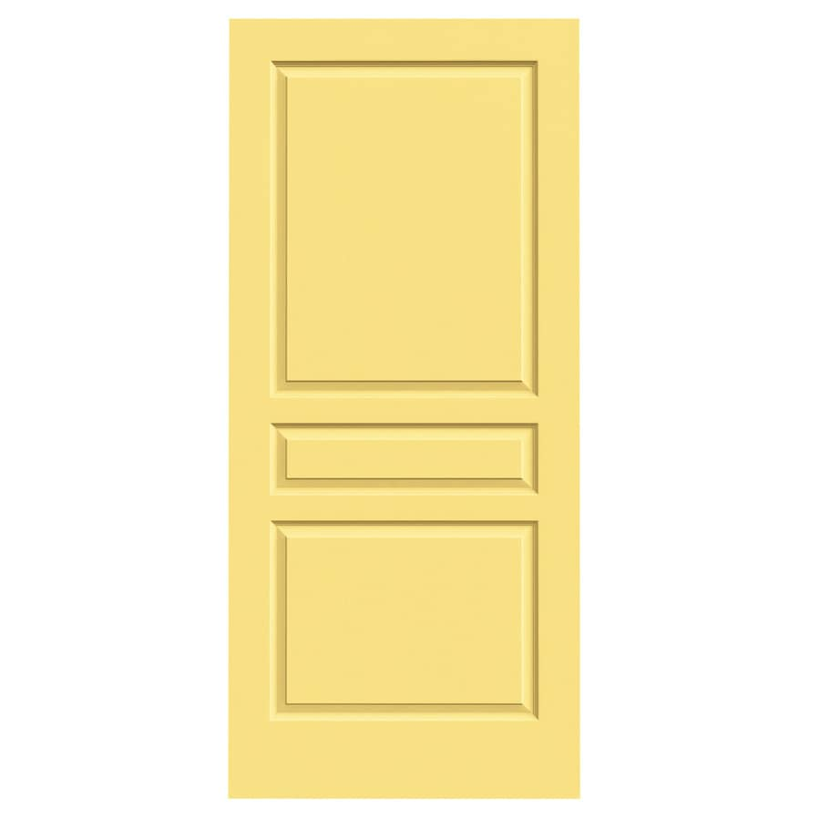 JELD-WEN Marigold Hollow Core 3-Panel Square Slab Interior Door (Common: 36-in x 80-in; Actual: 36-in x 80-in)