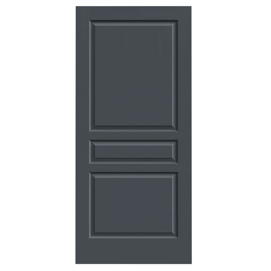 Shop Jeld Wen Avalon Slate 3 Panel Square Hollow Core