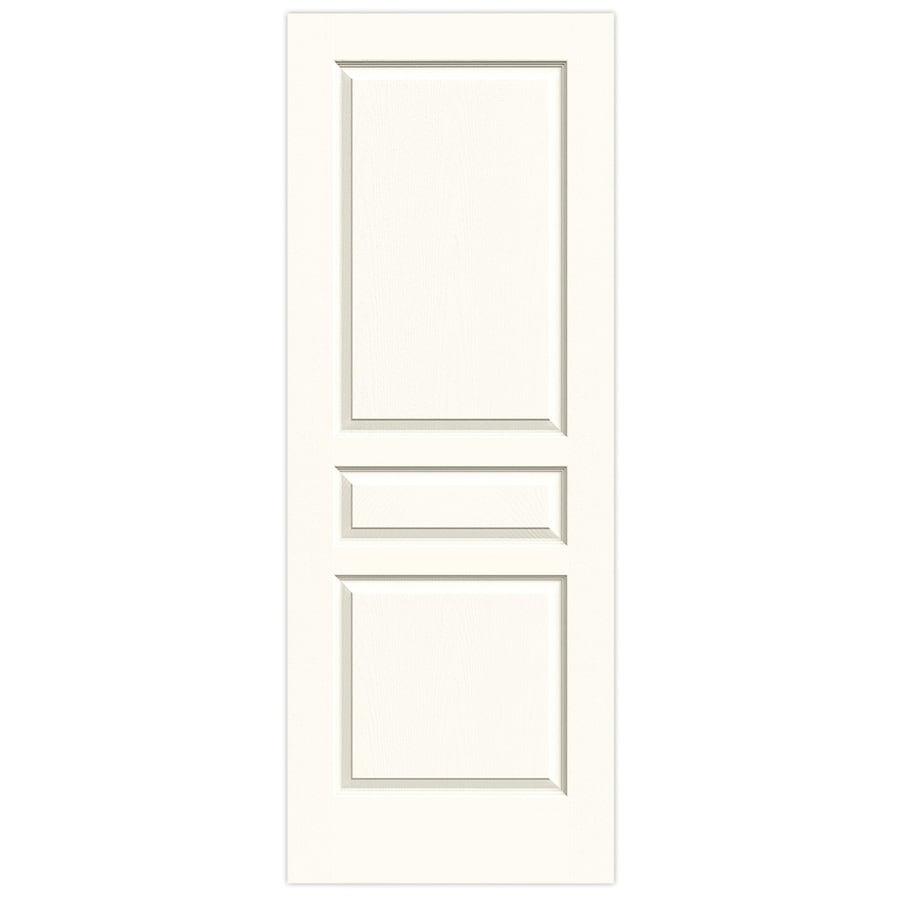 JELD-WEN Avalon White 3-panel Square Slab Interior Door (Common: 28-in x 80-in; Actual: 28-in x 80-in)