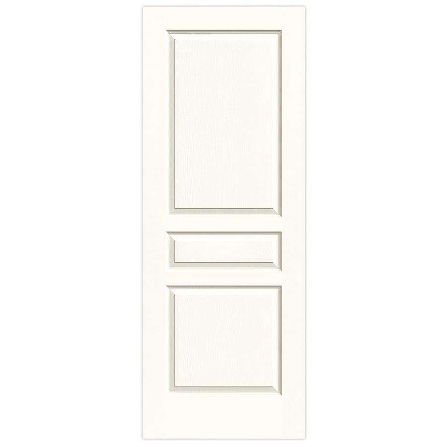 JELD-WEN Avalon White 3-panel Square Slab Interior Door (Common: 30-in x 80-in; Actual: 30-in x 80-in)