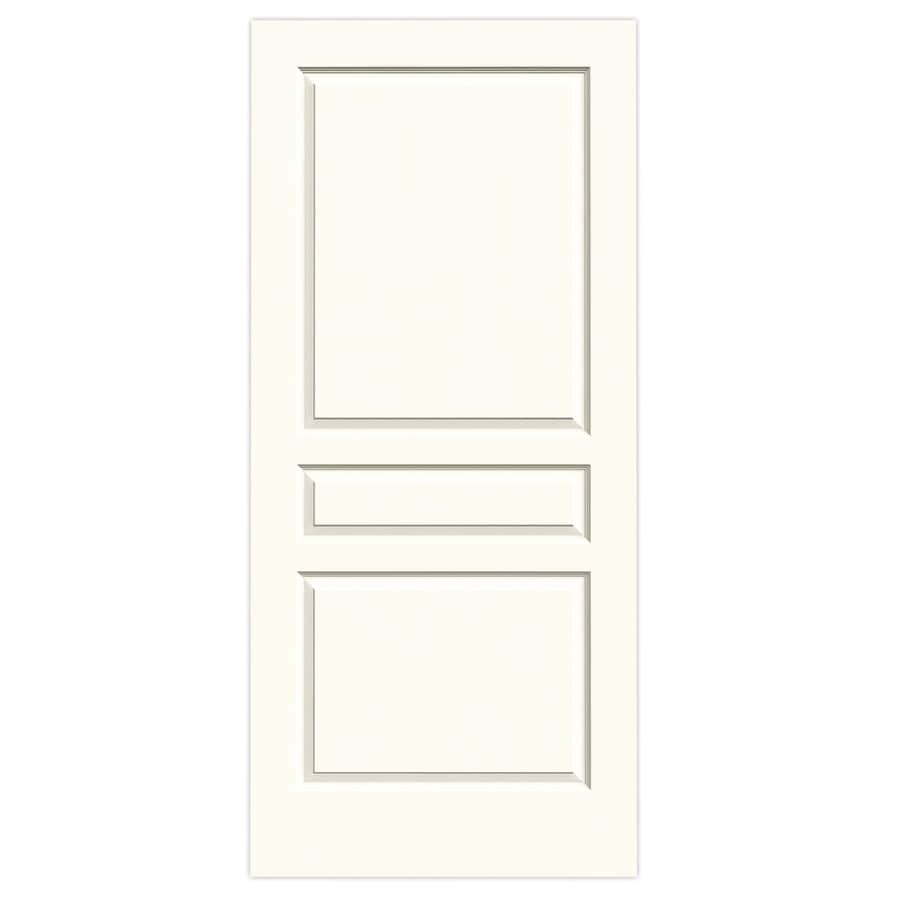 JELD-WEN Avalon White Solid Core Molded Composite Slab Interior Door (Common: 36-in x 80-in; Actual: 36-in x 80-in)