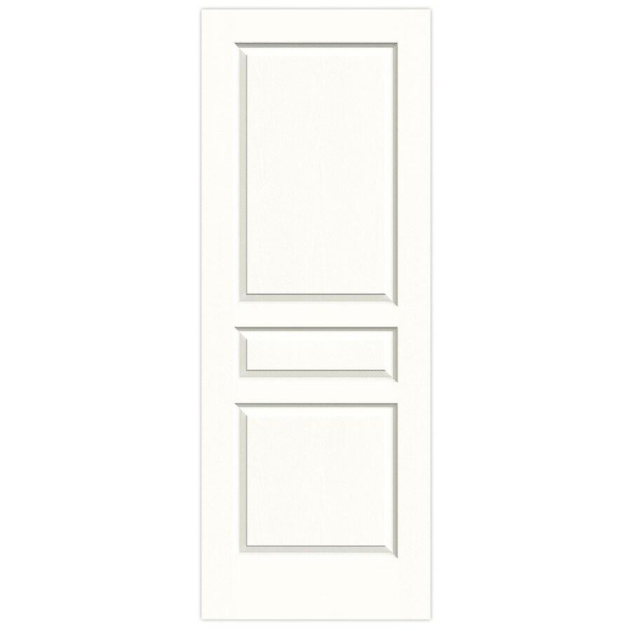 JELD-WEN Snow Storm Solid Core 3-Panel Square Slab Interior Door (Common: 24-in x 80-in; Actual: 24-in x 80-in)