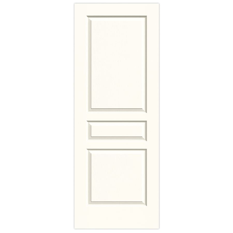 JELD-WEN Moonglow Solid Core 3-Panel Square Slab Interior Door (Common: 24-in x 80-in; Actual: 24-in x 80-in)