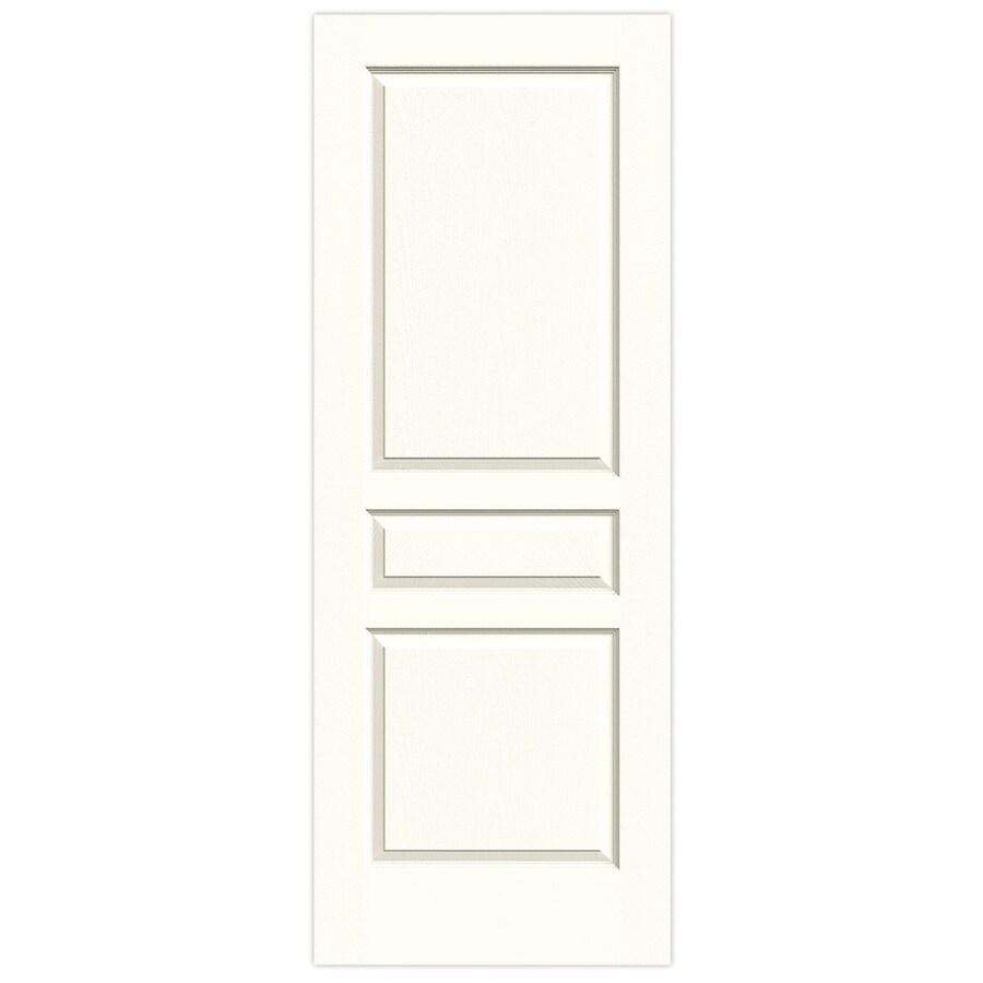 JELD-WEN Moonglow Solid Core 3-Panel Square Slab Interior Door (Common: 30-in x 80-in; Actual: 30-in x 80-in)