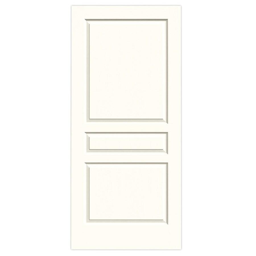 JELD-WEN Moonglow Solid Core 3-Panel Square Slab Interior Door (Common: 36-in x 80-in; Actual: 36-in x 80-in)