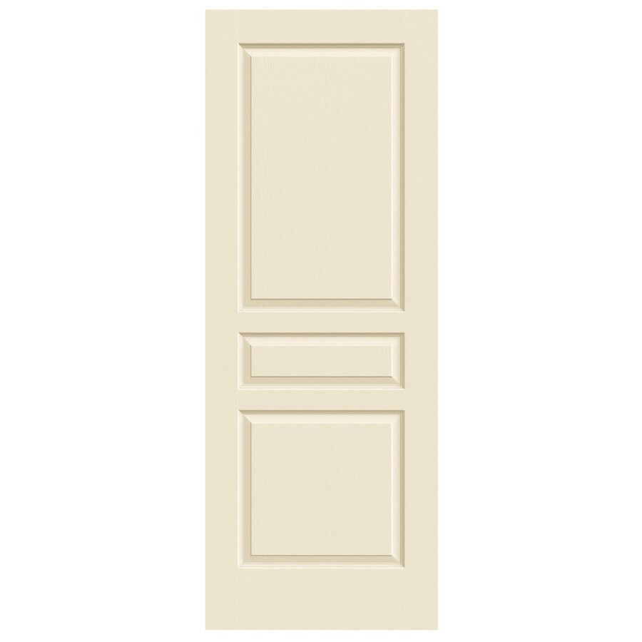 JELD-WEN Avalon Cream-N-Sugar Solid Core Molded Composite Slab Interior Door (Common: 24-in x 80-in; Actual: 24-in x 80-in)