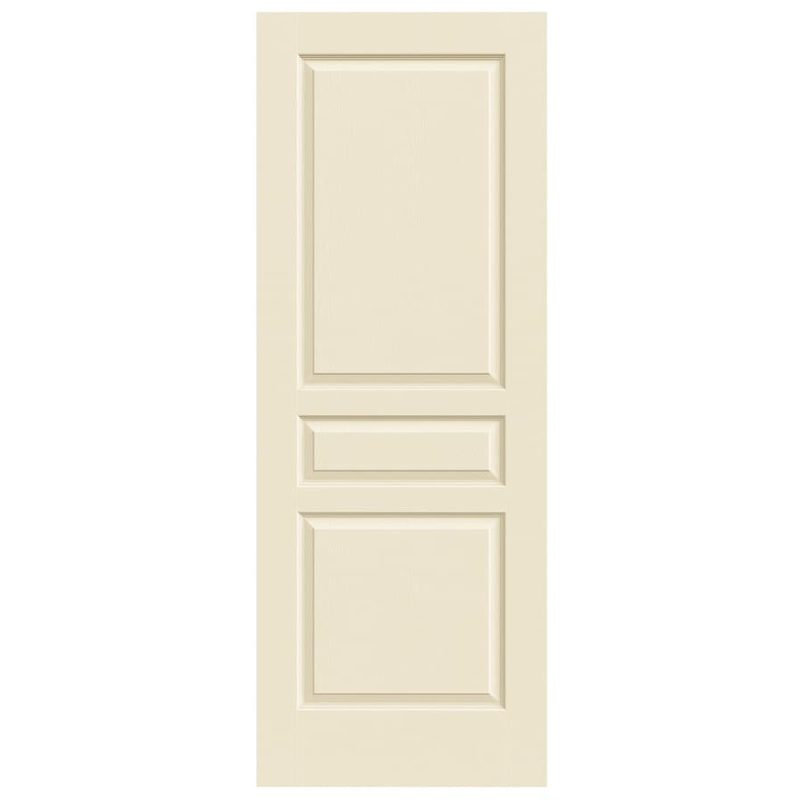 JELD-WEN Cream-N-Sugar Solid Core 3-Panel Square Slab Interior Door (Common: 30-in x 80-in; Actual: 30-in x 80-in)