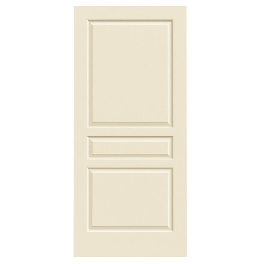 JELD-WEN Avalon Cream-N-Sugar Solid Core Molded Composite Slab Interior Door (Common: 36-in x 80-in; Actual: 36-in x 80-in)