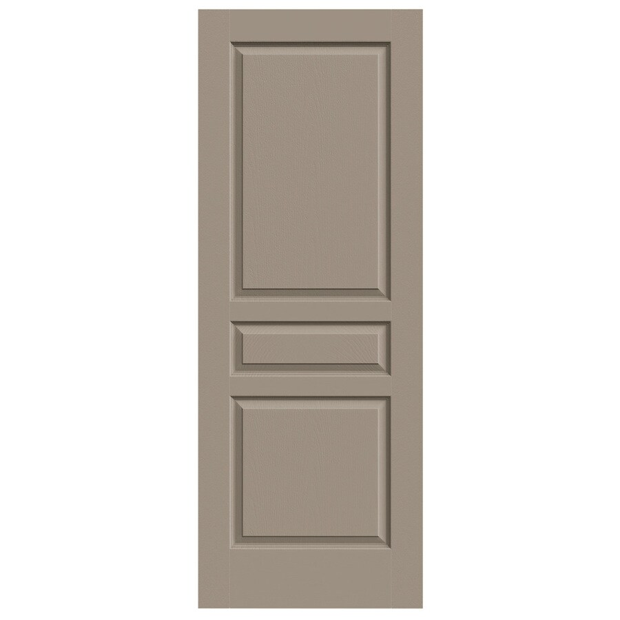 JELD-WEN Avalon Sand Piper 3-panel Square Slab Interior Door (Common: 28-in x 80-in; Actual: 28-in x 80-in)