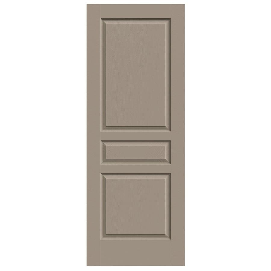 JELD-WEN Avalon Sand Piper 3-panel Square Slab Interior Door (Common: 32-in x 80-in; Actual: 32-in x 80-in)