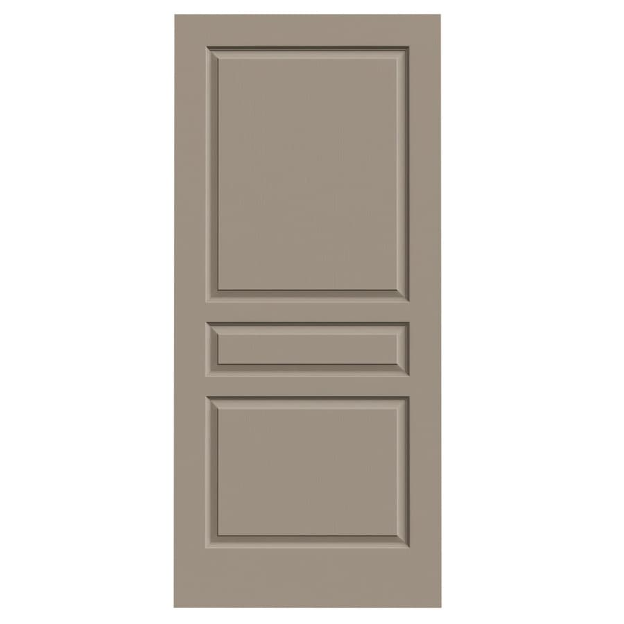 JELD-WEN Sand Piper Solid Core 3-Panel Square Slab Interior Door (Common: 36-in x 80-in; Actual: 36-in x 80-in)