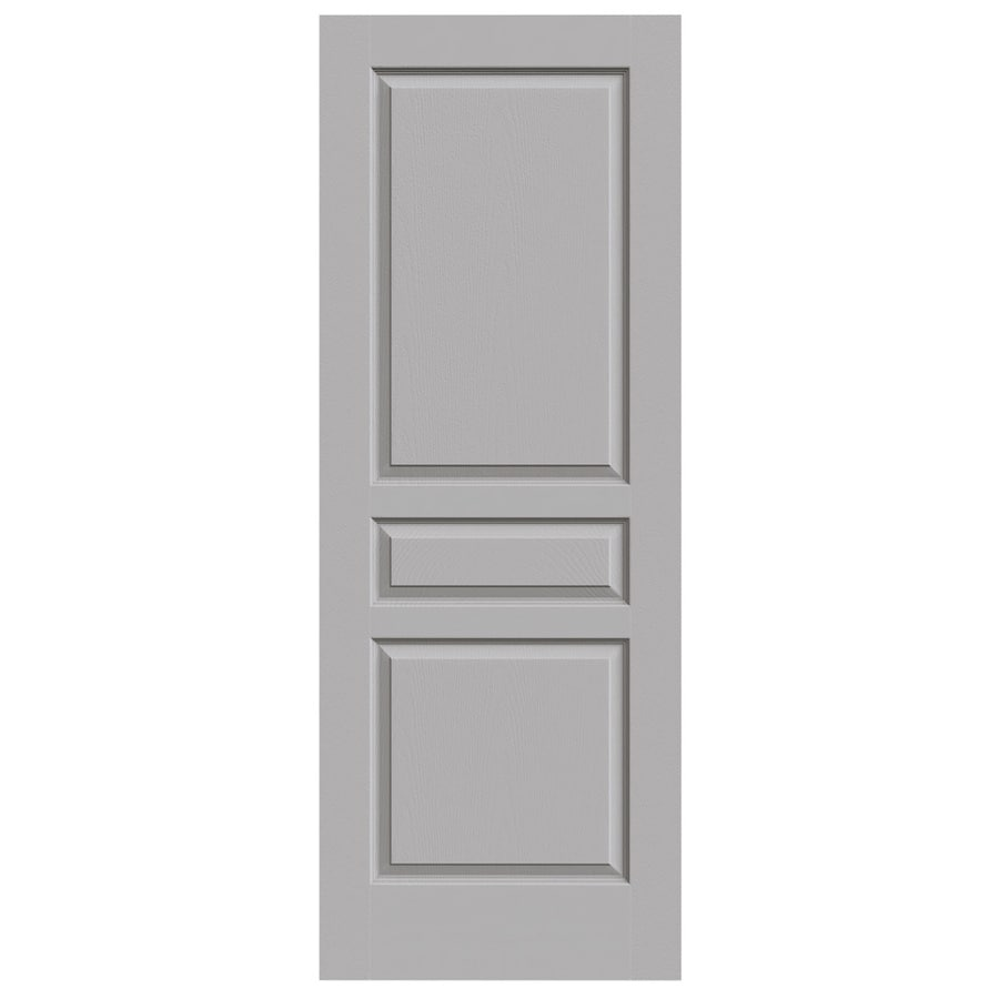 JELD-WEN Driftwood Solid Core 3-Panel Square Slab Interior Door (Common: 28-in x 80-in; Actual: 28-in x 80-in)