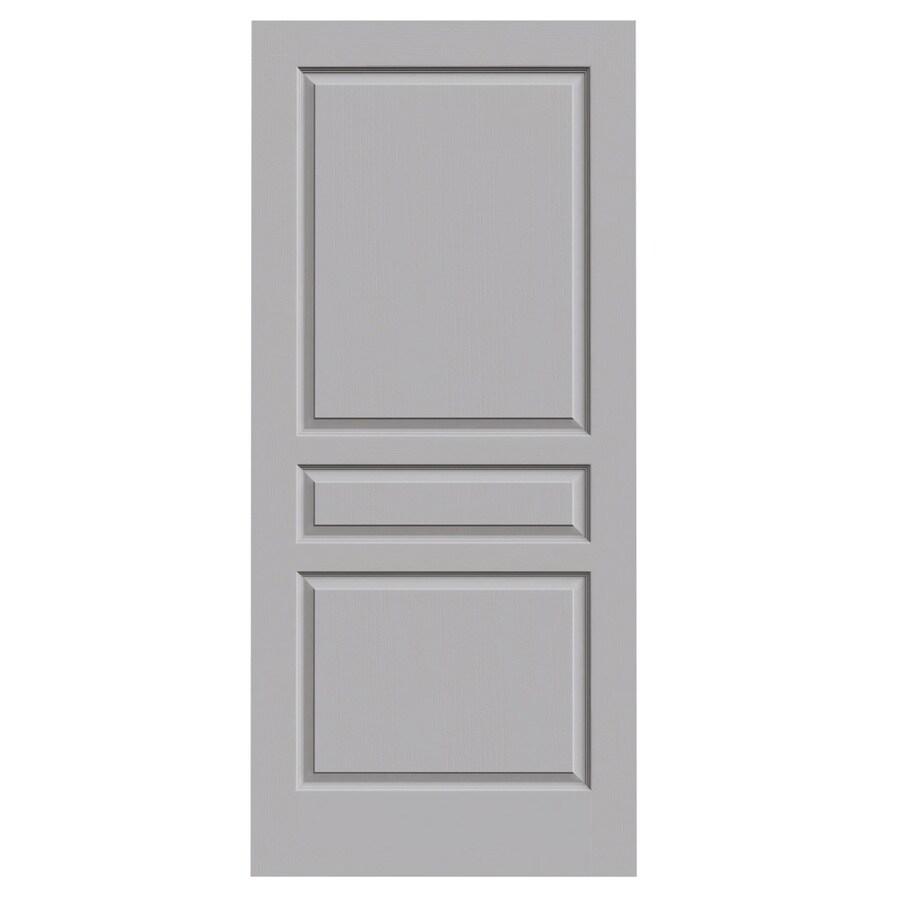 JELD-WEN Driftwood Solid Core 3-Panel Square Slab Interior Door (Common: 36-in x 80-in; Actual: 36-in x 80-in)