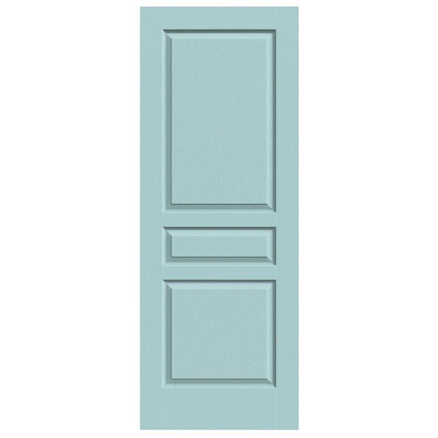 JELD-WEN Sea Mist Solid Core 3-Panel Square Slab Interior Door (Common: 32-in x 80-in; Actual: 32-in x 80-in)