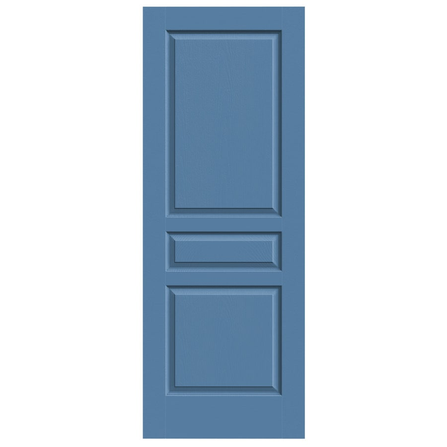 JELD-WEN Blue Heron Solid Core 3-Panel Square Slab Interior Door (Common: 24-in x 80-in; Actual: 24-in x 80-in)