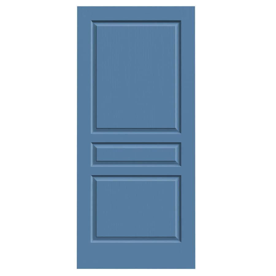 JELD-WEN Blue Heron Solid Core 3-Panel Square Slab Interior Door (Common: 36-in x 80-in; Actual: 36-in x 80-in)