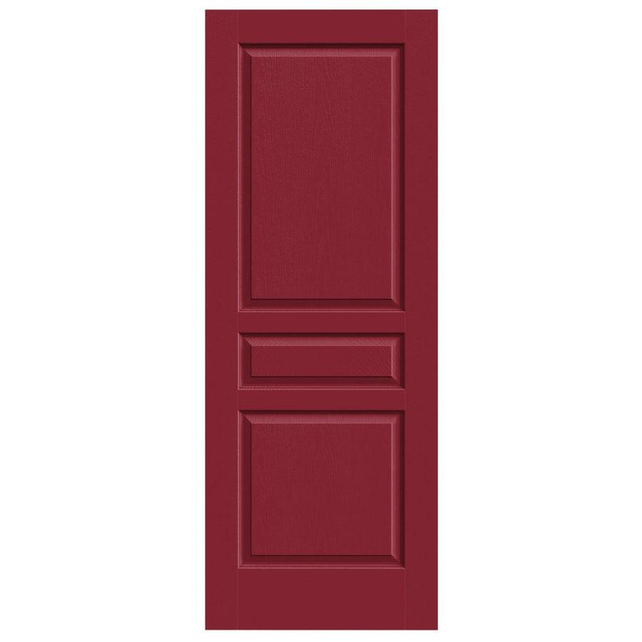 JELD-WEN Avalon Barn Red Solid Core Molded Composite Slab Interior Door (Common: 32-in x 80-in; Actual: 32-in x 80-in)