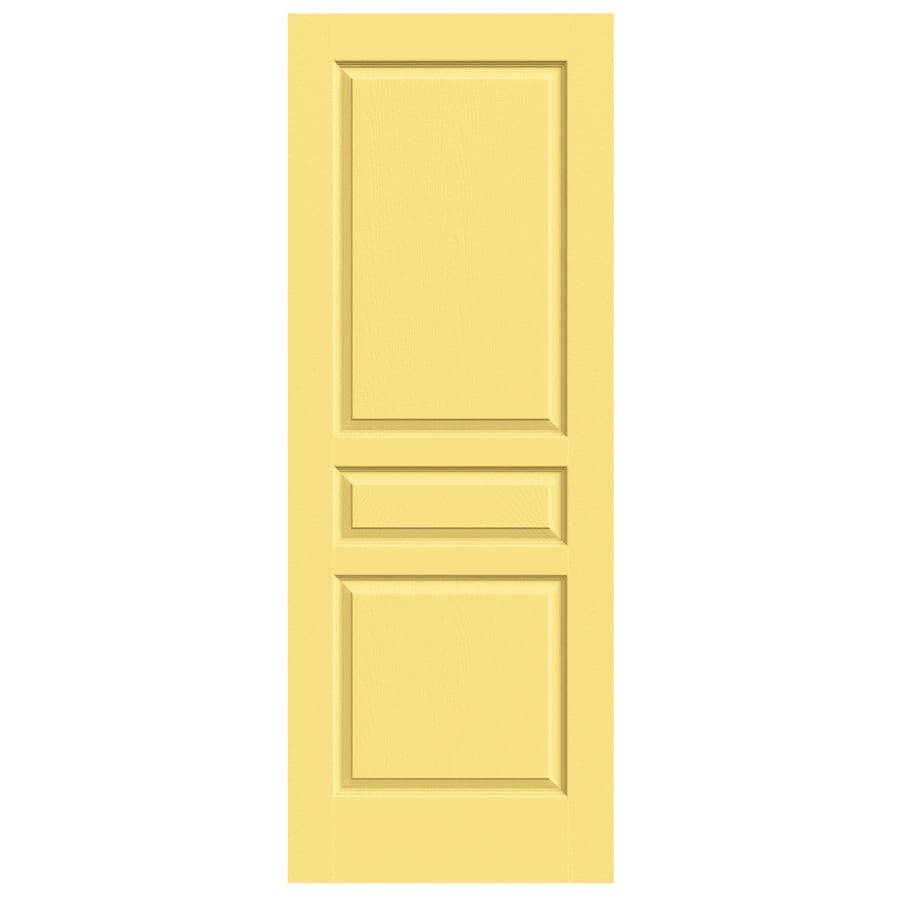 JELD-WEN Marigold Solid Core 3-Panel Square Slab Interior Door (Common: 24-in x 80-in; Actual: 24-in x 80-in)