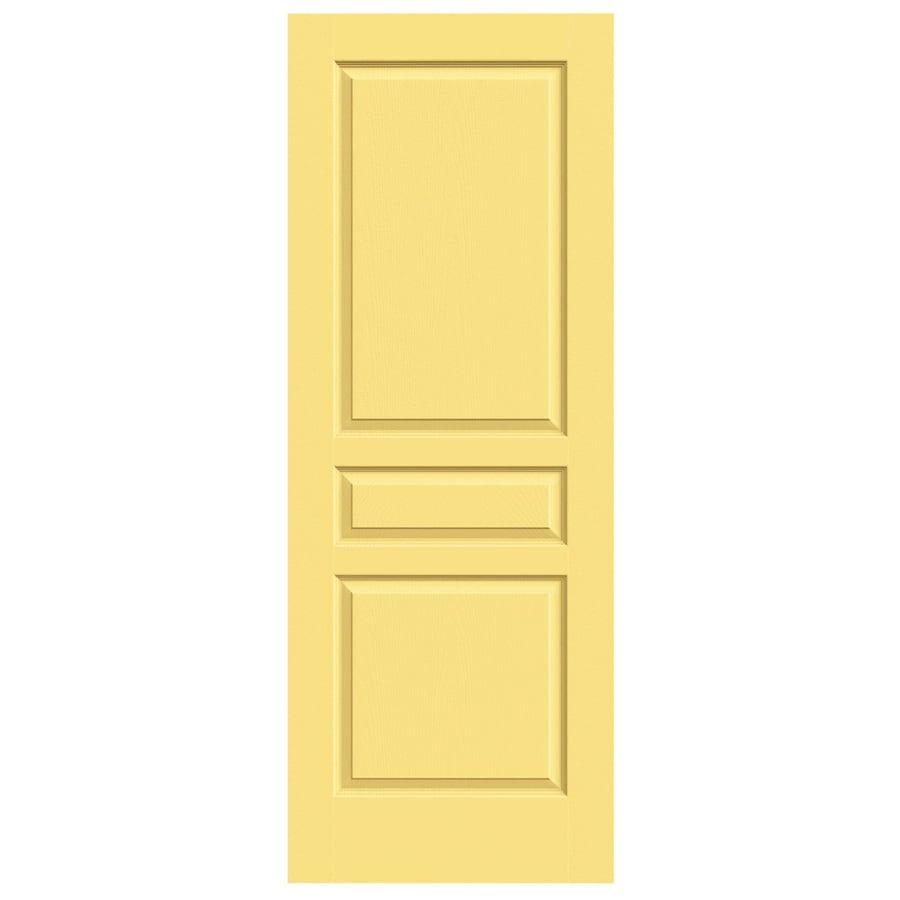 JELD-WEN Avalon Marigold Solid Core Molded Composite Slab Interior Door (Common: 24-in x 80-in; Actual: 24-in x 80-in)