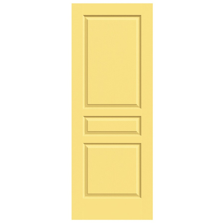 JELD-WEN Avalon Marigold Solid Core 3-Panel Square Slab Interior Door (Common: 28-in x 80-in; Actual: 28-in x 80-in)