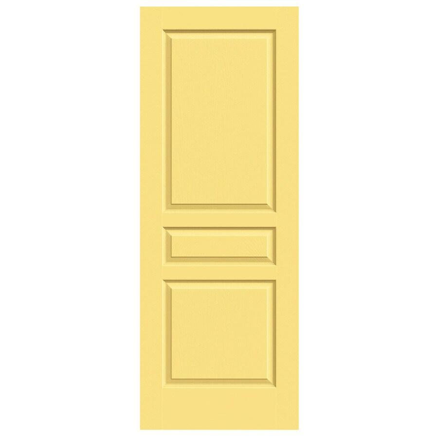 JELD-WEN Marigold Solid Core 3-Panel Square Slab Interior Door (Common: 32-in x 80-in; Actual: 32-in x 80-in)
