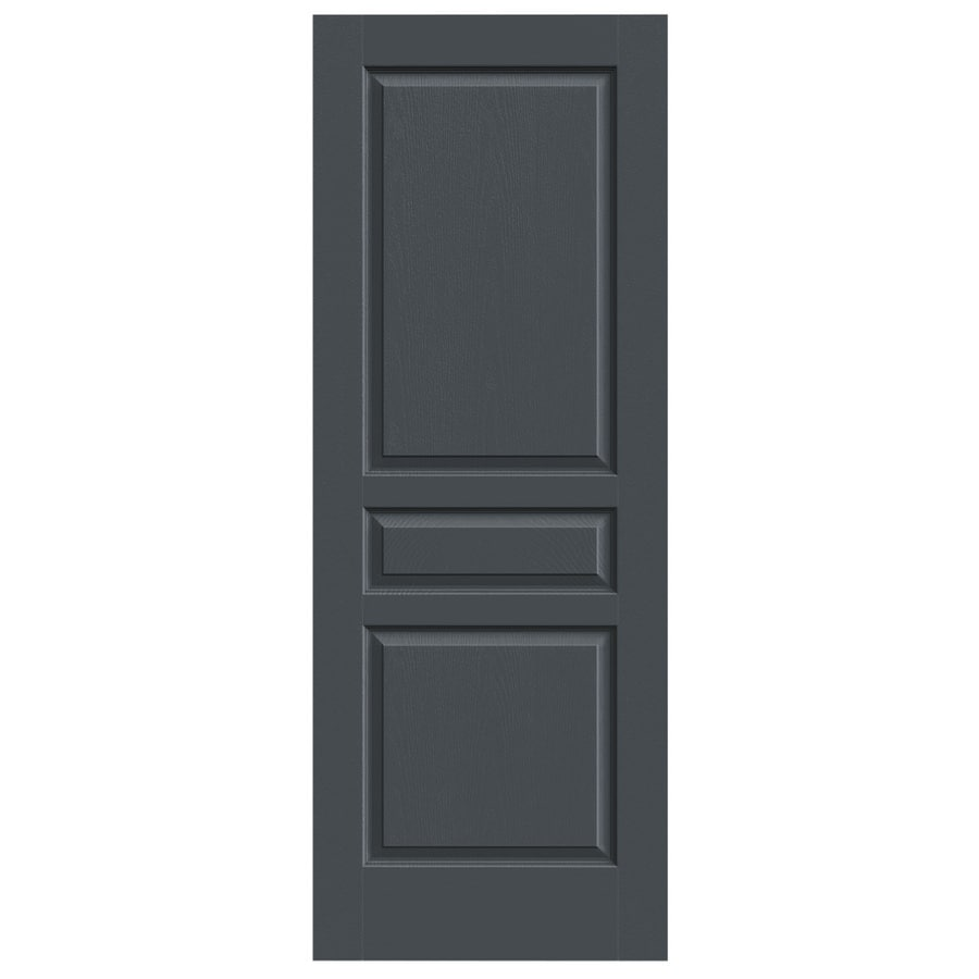 JELD-WEN Slate Solid Core 3-Panel Square Slab Interior Door (Common: 24-in x 80-in; Actual: 24-in x 80-in)