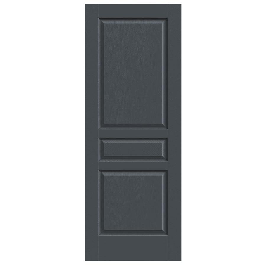 JELD-WEN Slate Solid Core 3-Panel Square Slab Interior Door (Common: 28-in x 80-in; Actual: 28-in x 80-in)