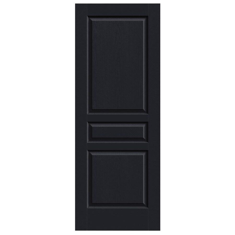 JELD-WEN Midnight Solid Core 3-Panel Square Slab Interior Door (Common: 28-in x 80-in; Actual: 28-in x 80-in)