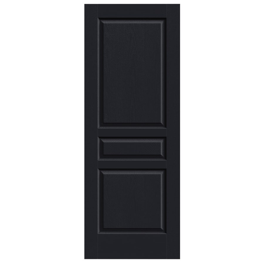 JELD-WEN Midnight Solid Core 3-Panel Square Slab Interior Door (Common: 30-in x 80-in; Actual: 30-in x 80-in)
