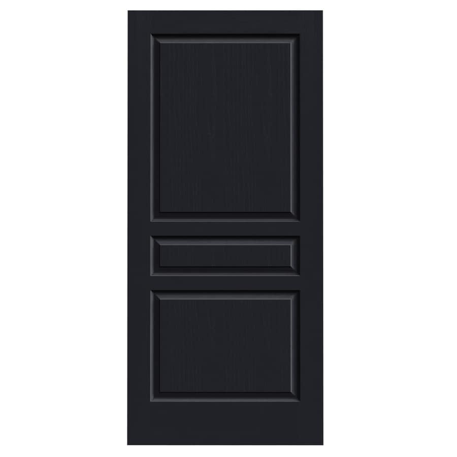 JELD-WEN Midnight Solid Core 3-Panel Square Slab Interior Door (Common: 36-in x 80-in; Actual: 36-in x 80-in)
