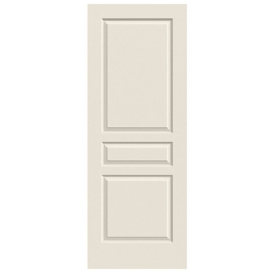 JELD-WEN Avalon Primed Solid Core Molded Composite Slab Interior Door (Common: 24-in x 80-in; Actual: 24-in x 80-in)