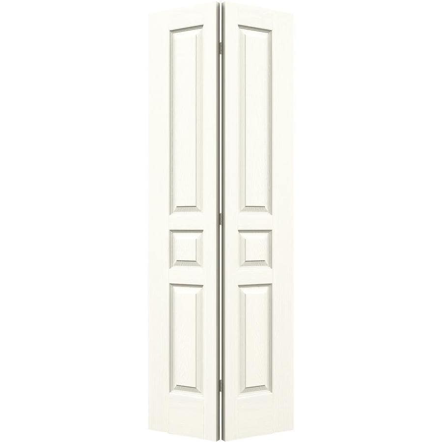 JELD-WEN Avalon White Hollow Core Molded Composite Bi-Fold Closet Interior Door with Hardware (Common: 28-in x 80-in; Actual: 27.5000-in x 79-in)
