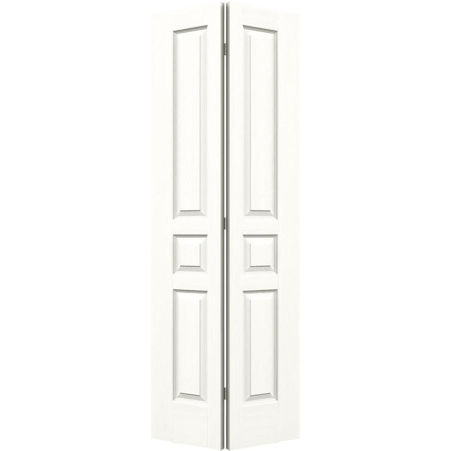 JELD-WEN Snow Storm Hollow Core 3-Panel Square Bi-Fold Closet Interior Door (Common: 30-in x 80-in; Actual: 29.5-in x 79-in)